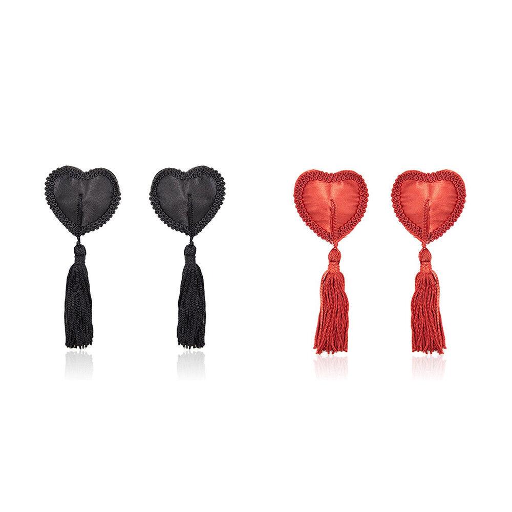 Luxury Nipple Tassel Intricate Heart Shaped Breast Bra -6295