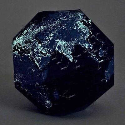 Geografia SECTIONAL GLOBE earth NIGHT fluorescence From JAPAN