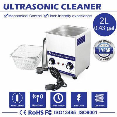 Ultrasonic Cleaner 2l Bath Ultrasound Cleaning Machine Heat Parts Lab Sonicator