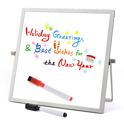 Dry Erase White board Desktop Mini Easel Reversible Notepad For Office Home Kids - Kids Dry Erase Board