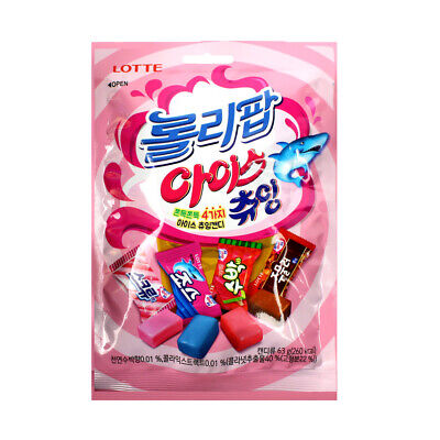 Lotte Icy Pole Shape Chewing Candy (4 flavours) 165g