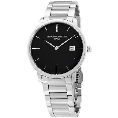 Frederique Constant Men's FC306G4S6B3 Slim Line Swiss Automatic Silver Watch