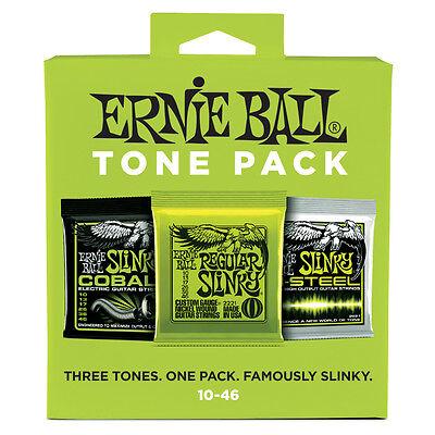 Ernie Ball Tone Pack Electric Guitar String Regular Slinky Cobalt M-Steel 10-46
