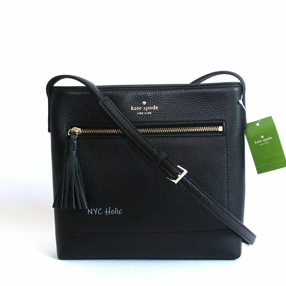 55new Kate Spade New York Chester Street Dessi Leather Crossbody Black