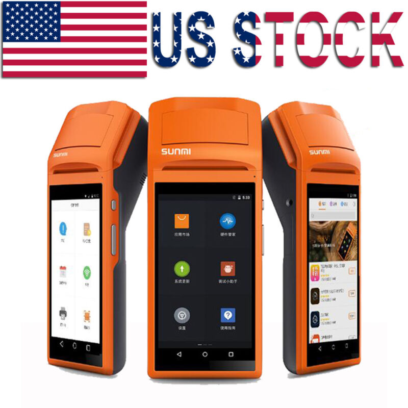 Handheld Android Pos Terminal Bluetooth Receipt Printer With 5.5 Inch Touch Wifi