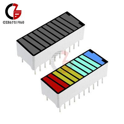 10pcs 10 Segment 4 Color Led Digital Tube Battery Indicator Bar Light Display
