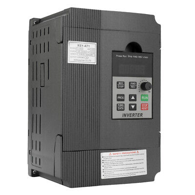 Single To 3 Phase 2.2kw 2hp 220v 12a Variable Frequency Drive Inverter Vfd H1y5