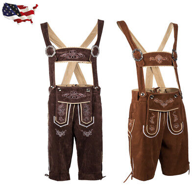Adult German Bavarian Deluex Lederhosen Men's Oktoberfest - Costums For Men