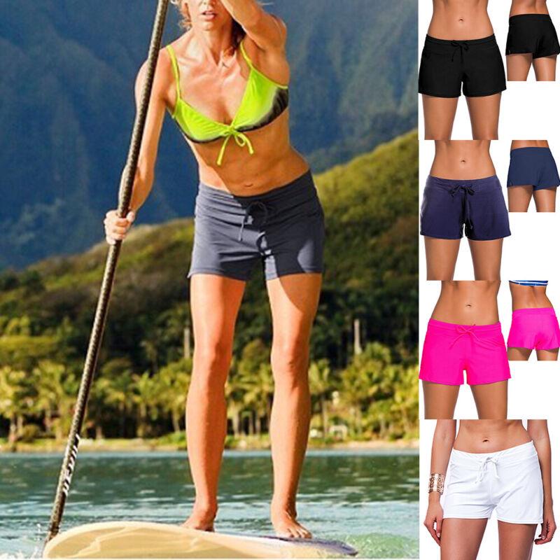 Sommer Damen Bikinislip Hotpants Badeshorts Badehose Strand Hose Sport Schwimm