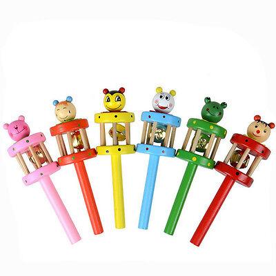 Wooden Musical Instruments Babies - Baby Toy Cartoon Animal Wooden Handbell Musical Developmental Instrument zy 2018