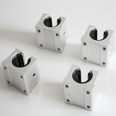 16mm 4pcs SBR16UU Aluminum Open Linear Motion Bearing Slide Unit for Linear Rail