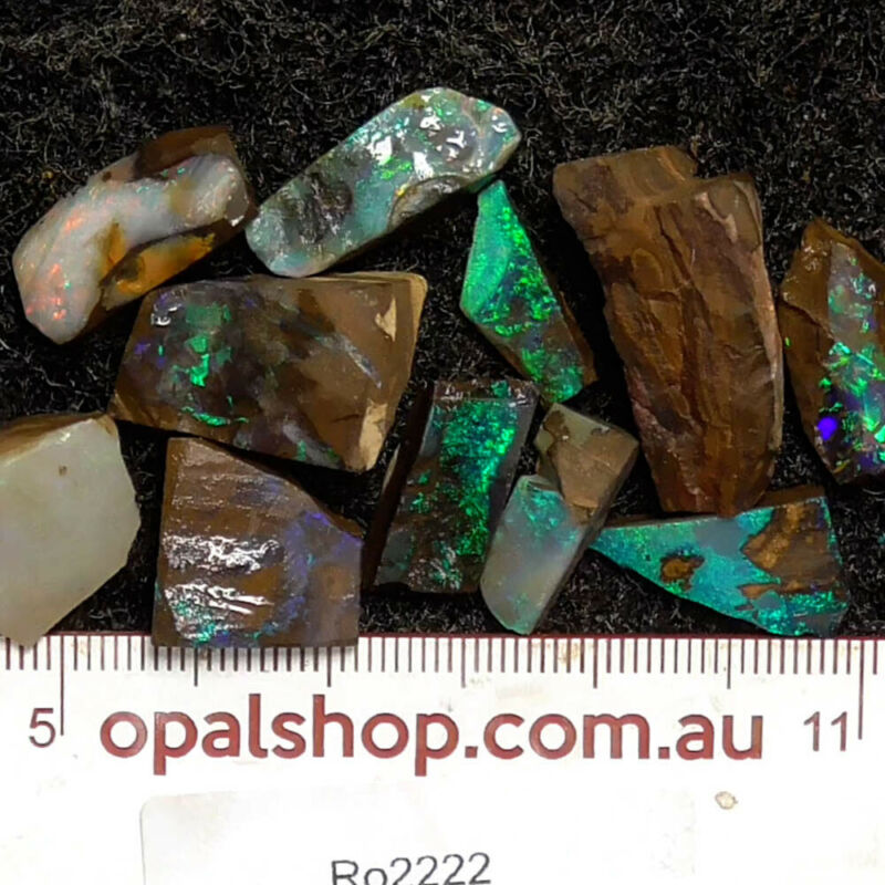 Boulder Opal Rough Material from Queensland, Australia - Ro2222
