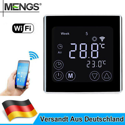 LCD Touchscreen WiFI Thermostat Programmierbar FußBodenheizung Raumthermostat