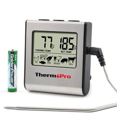 ThermoPro Digital Cooking Food Meat Thermometer For Smoker, Oven, BBQ Grill