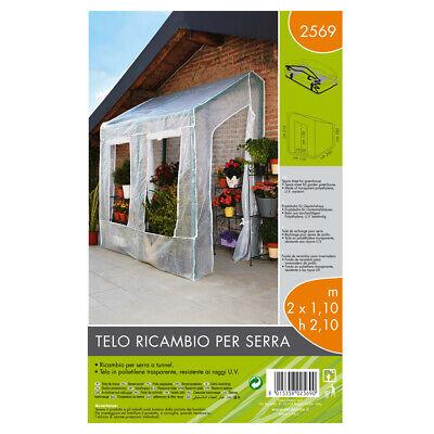 Verdemax Telo di Ricambio per Serra a Parete Dimensioni 200 x 110 x h 210 cm