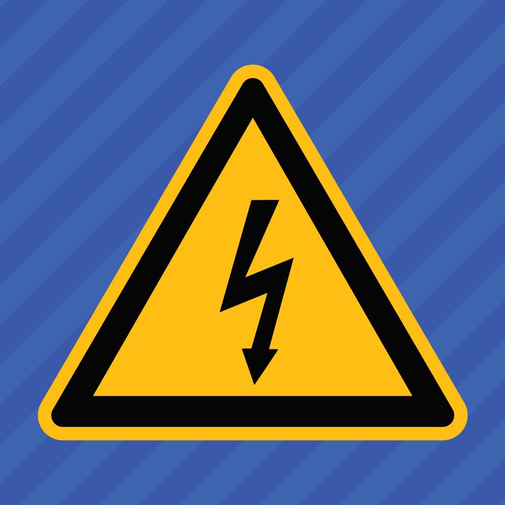 Home Decoration - High Voltage Electrical Shock Hazard Warning Symbol Vinyl Decal Sticker