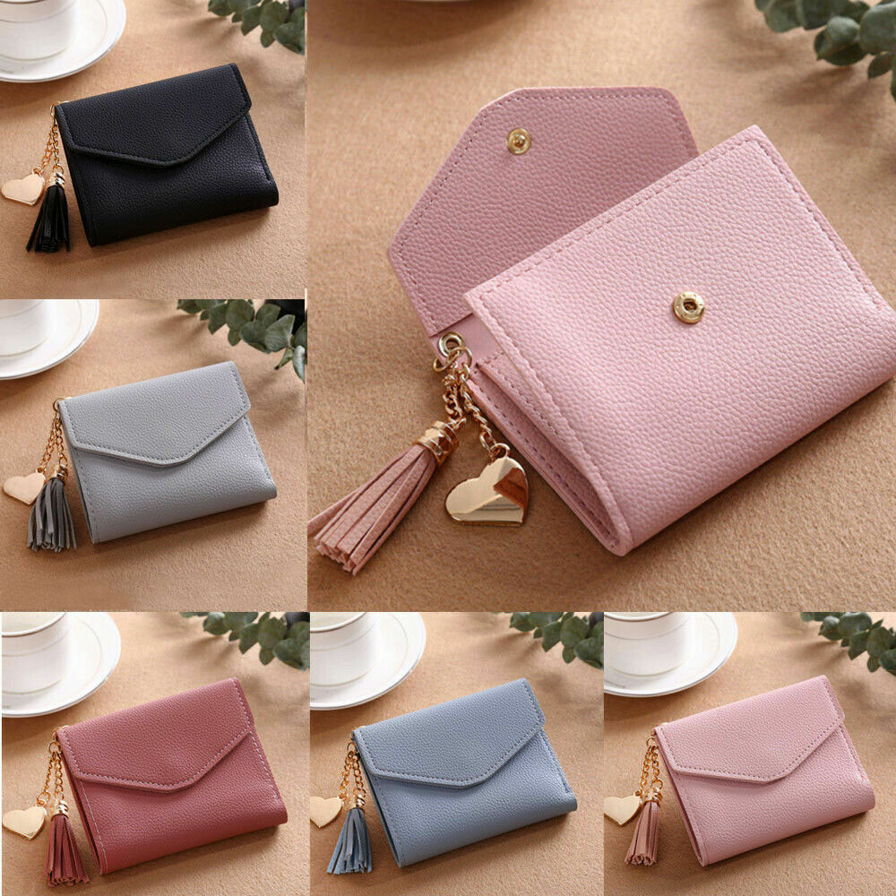 Women Small Wallet Clutch Card Holder Coin Handbag PU-Leather Girls Mini Purse Clothing, Shoes & Accessories