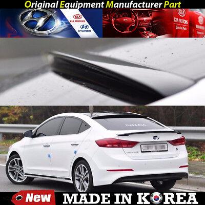 OEM Roof Glass Wing Lip Spoiler - Phantom Black 2016-2018 for Hyundai Elantra MD Oem Wing Spoiler