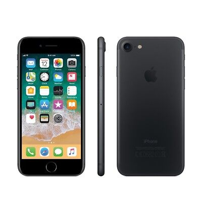 ***IPHONE 7 32GB BLACK FACTORY UNLOCKED! APPLE 32 GB GSM MATTE BRAND...