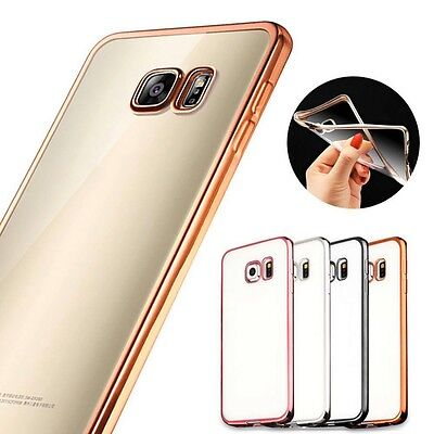 For Samsung Galaxy S7 edge S7 ShockProof Silicone Bumper Clear Slim Case Cover