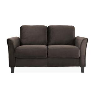 Lifestyle Solutions CCWENKS2M26CFVA  Kingston Loveseat in Brown  (Assembled)