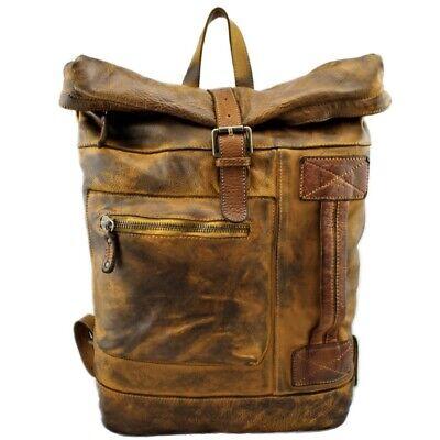 Bayside Rucksack aus Leder Tönung Aus Capo Made IN Italy BS 429 RR Farben Versch online kaufen