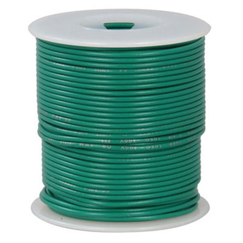 18 AWG Green Stranded Tinned-Copper Hook-Up Wire 100 Feet