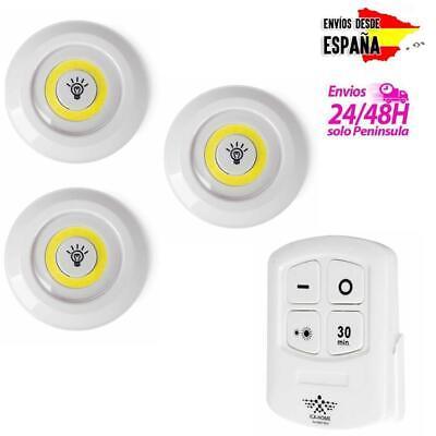 Pack de focos LED para cocina baño armario techo + mando inalámbrico