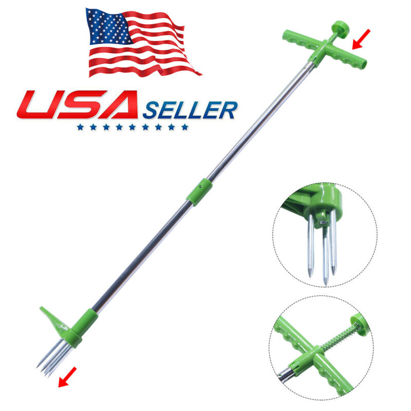 2021 Stand Up Weeder Weed Puller Twister Root Removal Hand Tool Garden 3 Claws