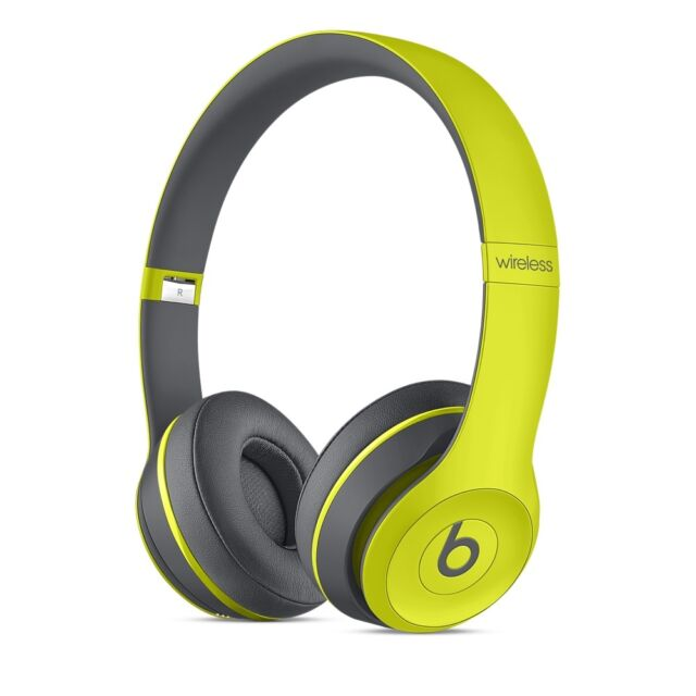 BRAND NEW 2017 Beats by Dre Solo 2 WIRELESS BLUETOOTH HEADPHONES  ACTIVE YELLOW
