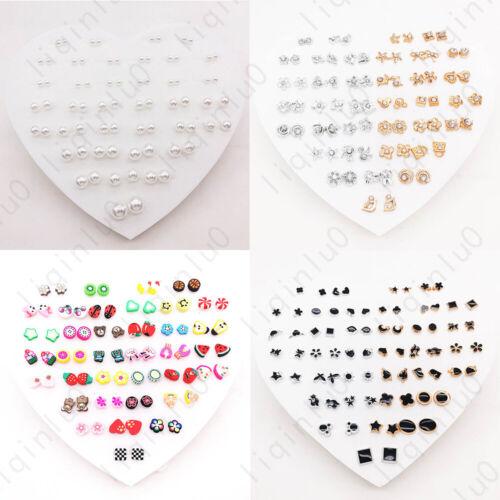 Jewellery - 36 Pairs Multiple Styles Fashion Rhinestone Earrings Set Women Ear Stud Jewelry