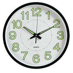 Fasmov Night Light Function Wall Clock With Silent Non-Ticking Night Lights Glow