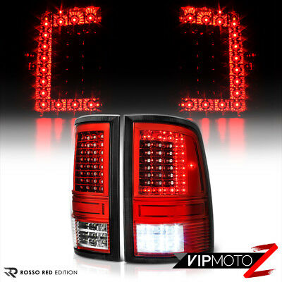 [FACTORY RED] 2009-2017 Dodge Ram 1500 2500 3500 Rear LED Tail Lights Lamps Set