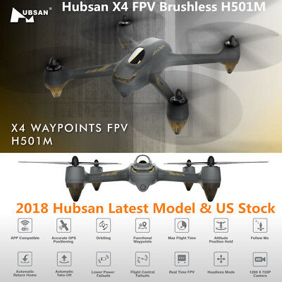 2018 Hubsan H501M RC Quadcopter X4 WIFI FPV Brushless GPS Drone 720P HD Camera