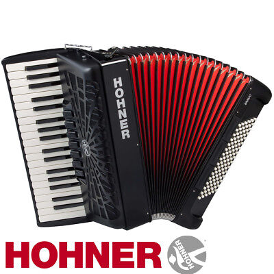 NEW Hohner BR96B-N Bravo III Piano Black Accordion 96 Bass 37 Keys Jet Black