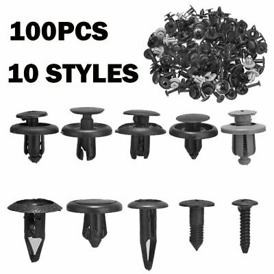 100x Trunk Screw Rivets Set Car Bumper Fender For Auto Plastic Fastener Clips for sale  China
