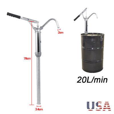 20lmin Lever Barrel Pump Self Dispense Fuel Diesel Drum Hand Oil Pump Tank Us
