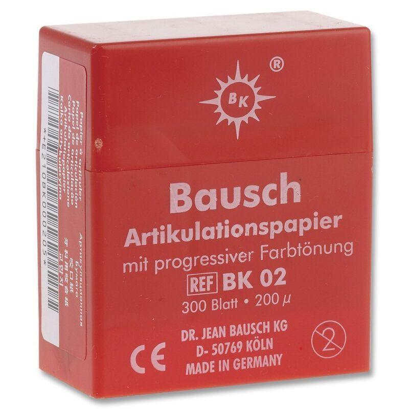 Bausch Articulating Paper with Progressive Color Transfer Plastic 300/Pk - Bk 02