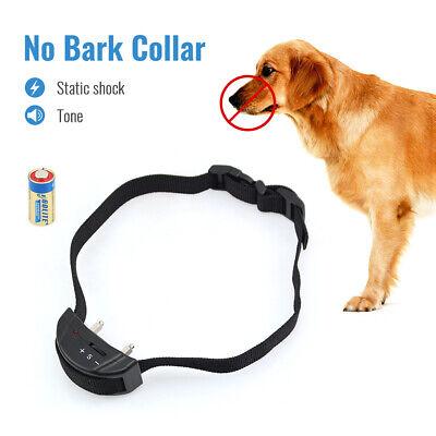 Automatic Electric Anti Bark Training Dog Collar Stop No Bark Shock Pets -