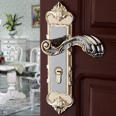 European Gold Door Entry Lever Lock Set Handle Entrance Security Passage  NEW ()