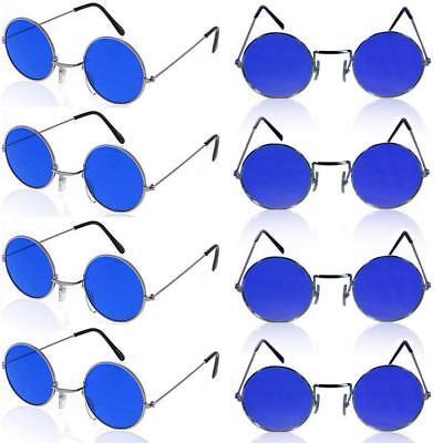 Lennon Brille (German Trendseller®  1 x Brille John Lennon ┃ Hippie Flower Power ┃ Ultra Blau)