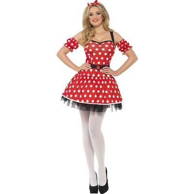 Smi - Damen Kostüm süße Comic Maus Karneval (Süßes Comic Kostüm)