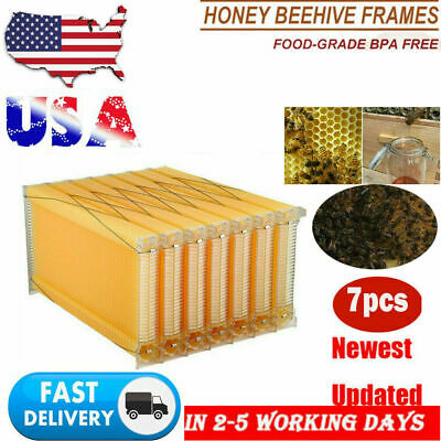 7pcs Honeycomb Beekeeping Beehive Wax Frames Harvest Bee Hive For Beehive Box
