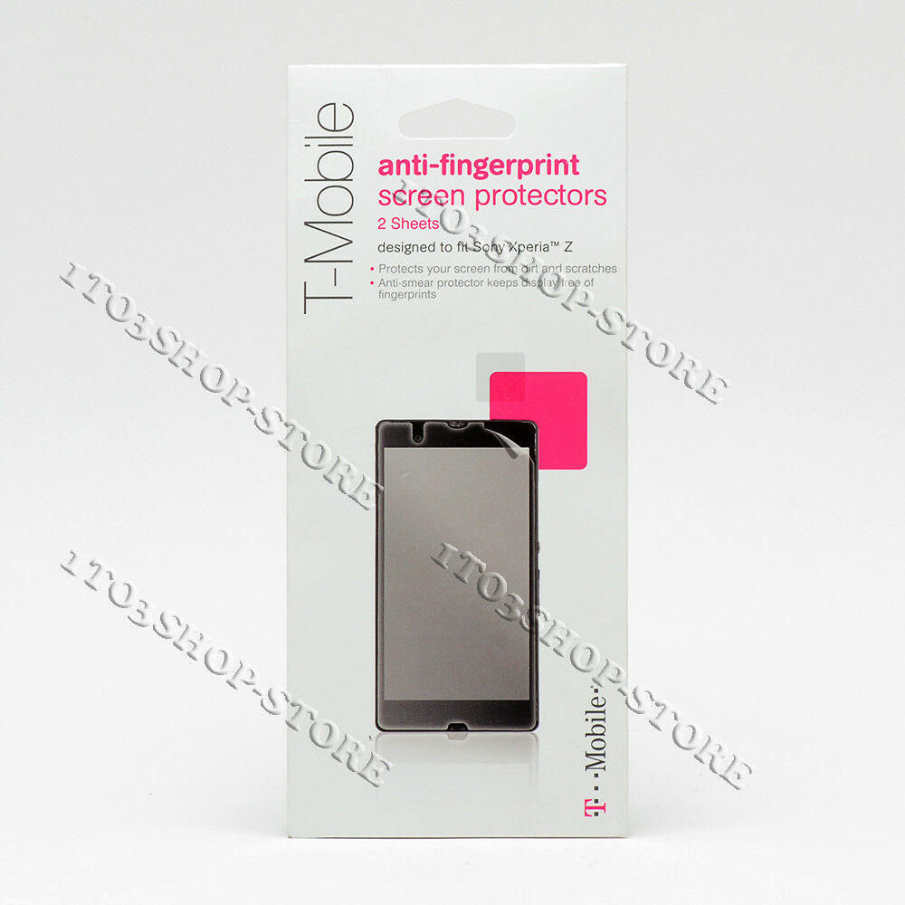 Details about T-Mobile Anti-Fingerprint Clear Screen Protectors For Sony  Xperia Z Clear NEW