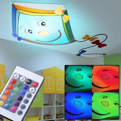 LED Decken Lampe Fernbedienung Baby-Kinder-Zimmer Drachen RGB Leuchte Dimmbar