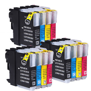 12 CYC Brand Ink Cartridges for LC985 Brother DCP J125 J315W J515W