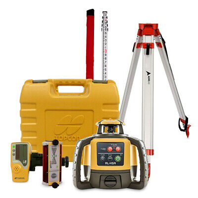 Topcon Rl-h5a Construction Laser Level Kit With Tripod 14 Rod Inches Ls-b100