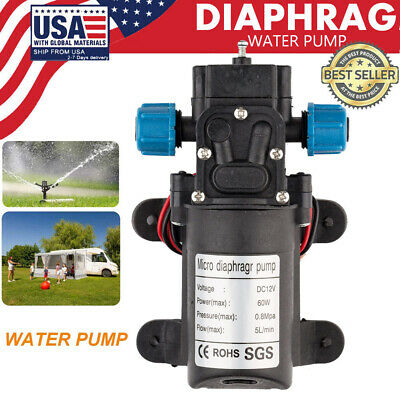 Dc12v 100psi 5lmin 60w Electric Diaphragm Water Pump Self Priming High Pressure