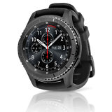 Samsung Gear S3 Frontier SM-R760 Smartwatch with Large Black Silicone Band