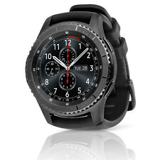 Samsung Gear S3 Frontier SM-R765V Verizon Smartwatch Large Black Silicone Band